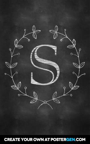 Chalkboard Monogram