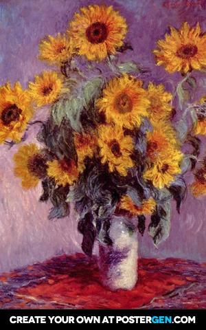 Claude Monet - Bouquet of Sunflowers Print