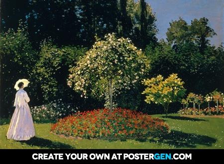 Claude Monet - Jeanne-Marguerite Lecadre in the Garden Print