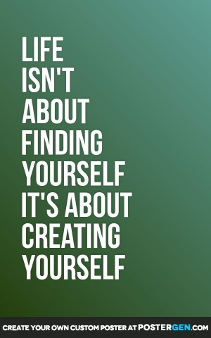 Creating Yourself Print