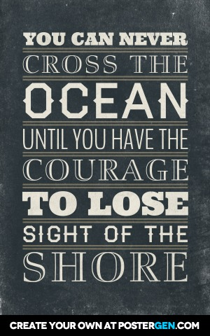 Cross The Ocean Poster Maker Quote Posters Custom