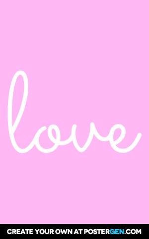 Cute Love Print