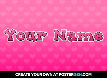 Custom Cute Text Poster Maker