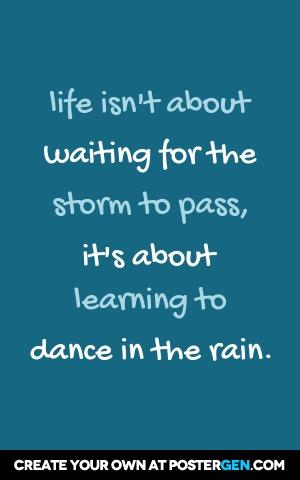 Dance In The Rain Print