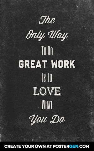 Do Great Work Print