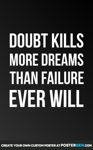 Doubt Kills Print