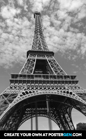 Eiffel Tower From Below Print