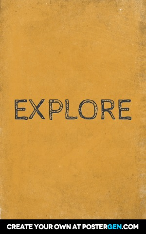 Custom Explore Poster Maker