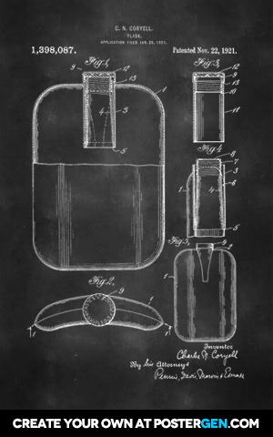 Flask Patent Print