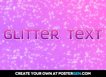 Glitter Text Print