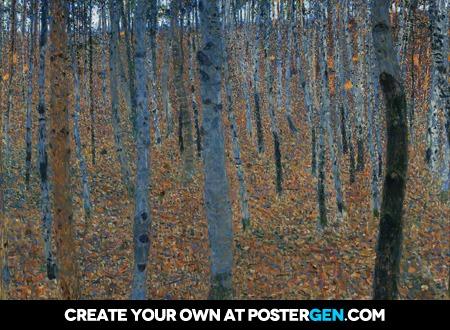 Gustav Klimt - Beech Grove I Print