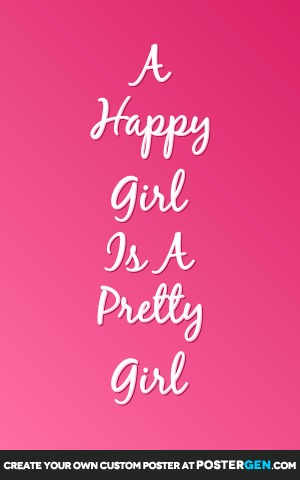 Custom Happy Girl Poster Maker