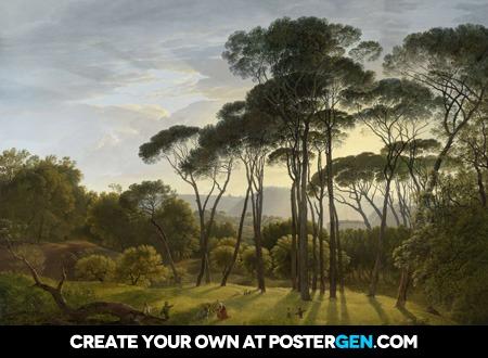 Hendrik Voogd - Italian Landscape with Umbrella Pines Print