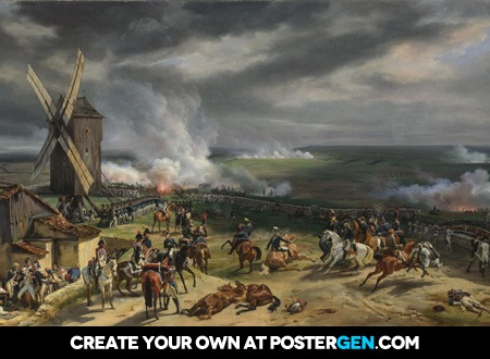 Horace Vernet - The Battle of Valmy Print