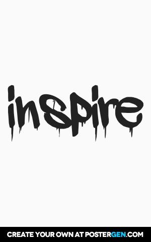 inspire graffiti Print