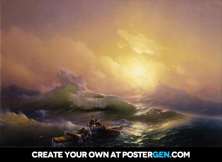 Ivan Aivazovsky - The Ninth Wave Print