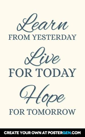 Learn Live Hope Print