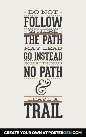 Leave A Trail Print