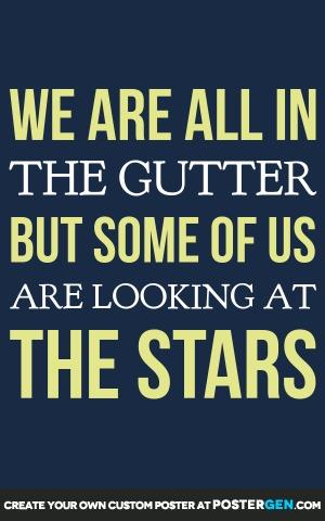 Looking at the Stars Print