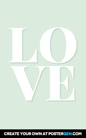 Custom Love Green Poster Maker