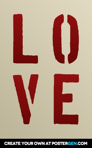 Custom Love Stencil Poster Maker
