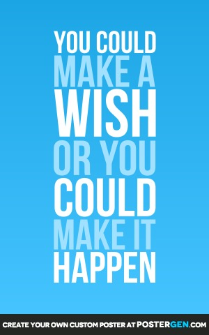 Make A Wish Print - Motivational Posters - Posters - PosterGen.com