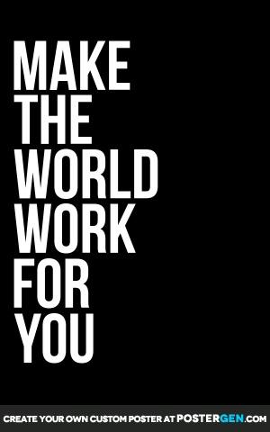 Custom Make The World Poster Maker