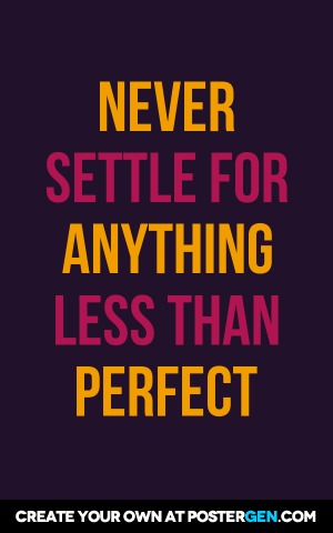 Never Settle Print