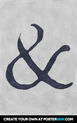 Painted Ampersand Print
