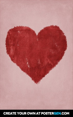 Painted Heart Print