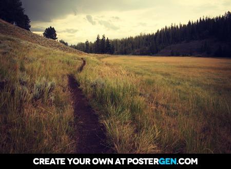 Path Through The Field Print