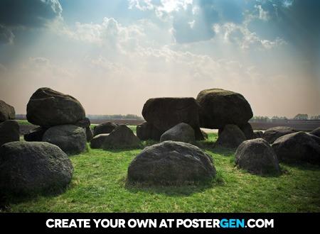 Peaceful Boulders Print