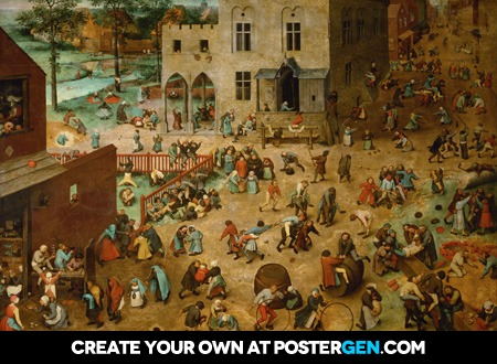 Pieter Bruegel the Elder - Children's Games Print