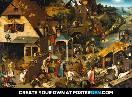 Pieter Bruegel the Elder - The Dutch Proverbs Print