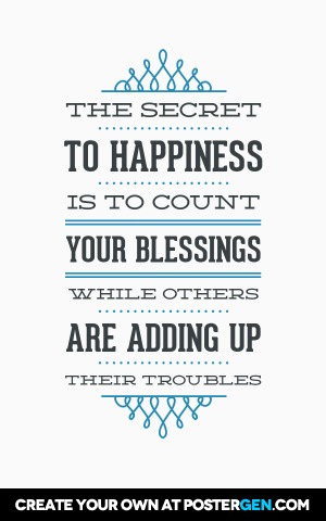 Secret To Happiness Print