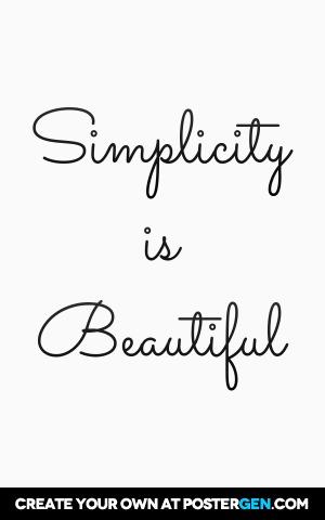 Simplicity Print