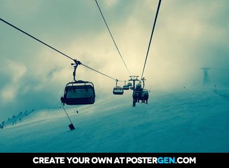 Ski Lift Print