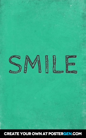 Custom Smile Green Poster Maker