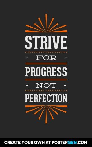 Strive For Progress Print