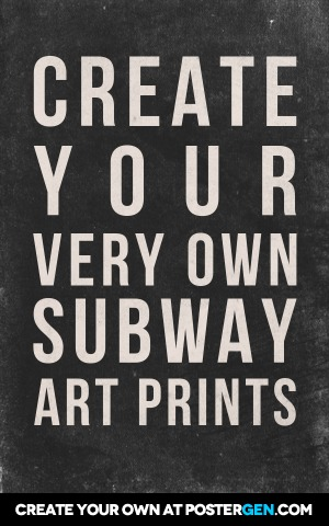 Subway Art Generator