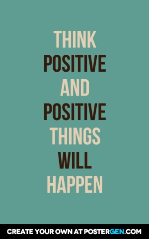Think Positive Print