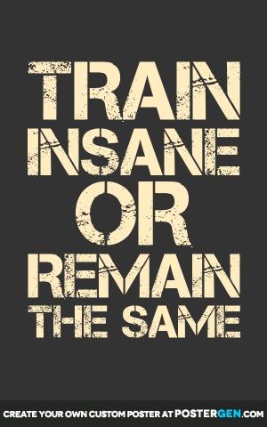 Custom Train Insane Poster Maker