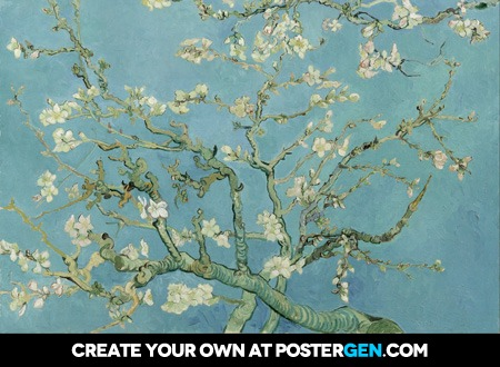 Vincent van Gogh - Almond Blossoms Print - Art Posters - Posters ...