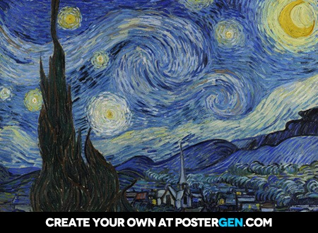 Vincent van Gogh - The Starry Night Print