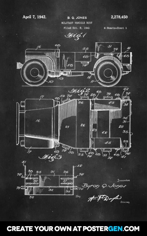 Willy Jeep Patent Print