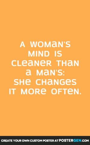 Woman's Mind Print
