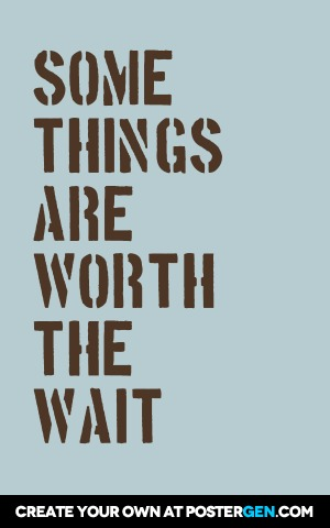 worth the wait poster maker quote posters custom posters