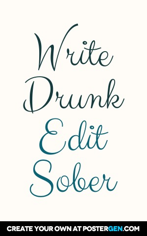 Write Drunk Print