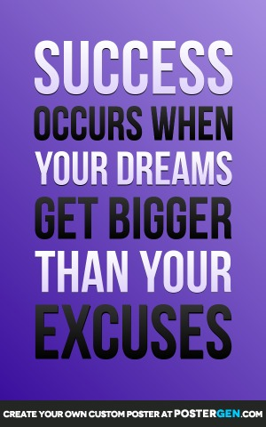 Your Excuses Print