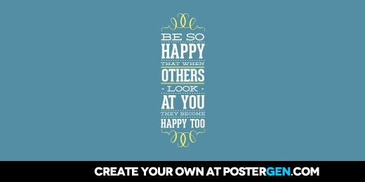 Custom Be So Happy Twitter Cover Maker
